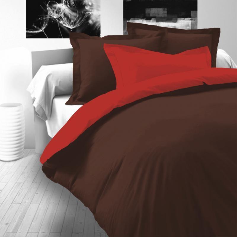 Saténové luxusní povlečení tmavě hnědo-červené Kvalitex