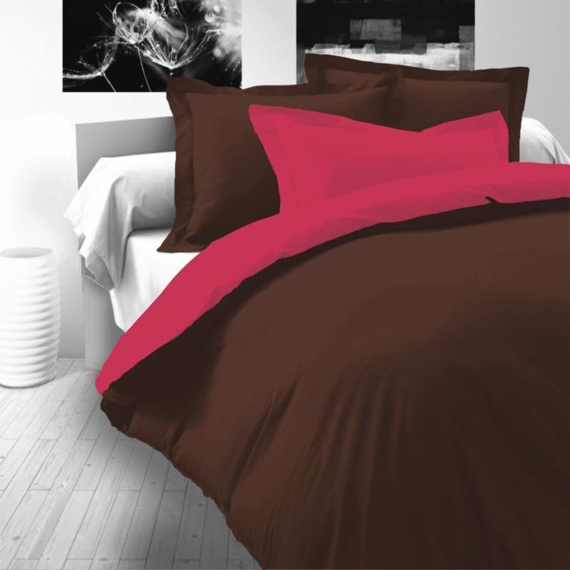 Saténové luxusní povlečení tmavě hnědo-růžové Kvalitex