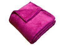 Příjemná a heboučká soft deka malinové barvy | 150/100, 150/200