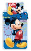 Modré povlečení pro děti s motivem Mickey Mouse   1x 140/200, 1x 90/70