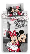 Bavlněné povlečení Mickey a Minnie v New Yorku   1x 140/200, 1x 90/70