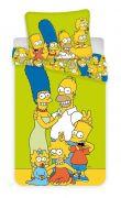 Dětské povlečení Simpsons rodina žluto-zelené barvy | Povlečení Simpsons yellow green 140x200, 70x90 cm