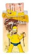 Pěkné dětské povlečení Simpsons Homer beach | Povlečení Simpsons Homer beach 140x200, 70x90 cm